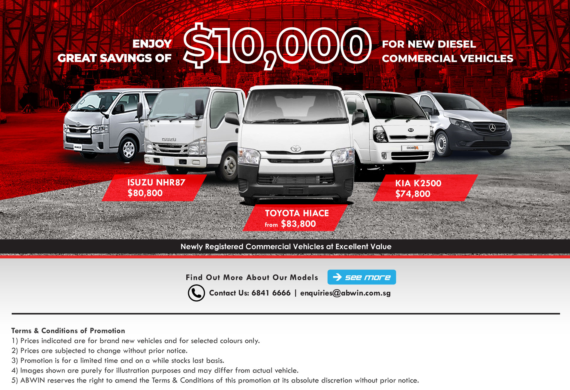 Brand new Commercial Vehicles in Singapore_May_Promotion