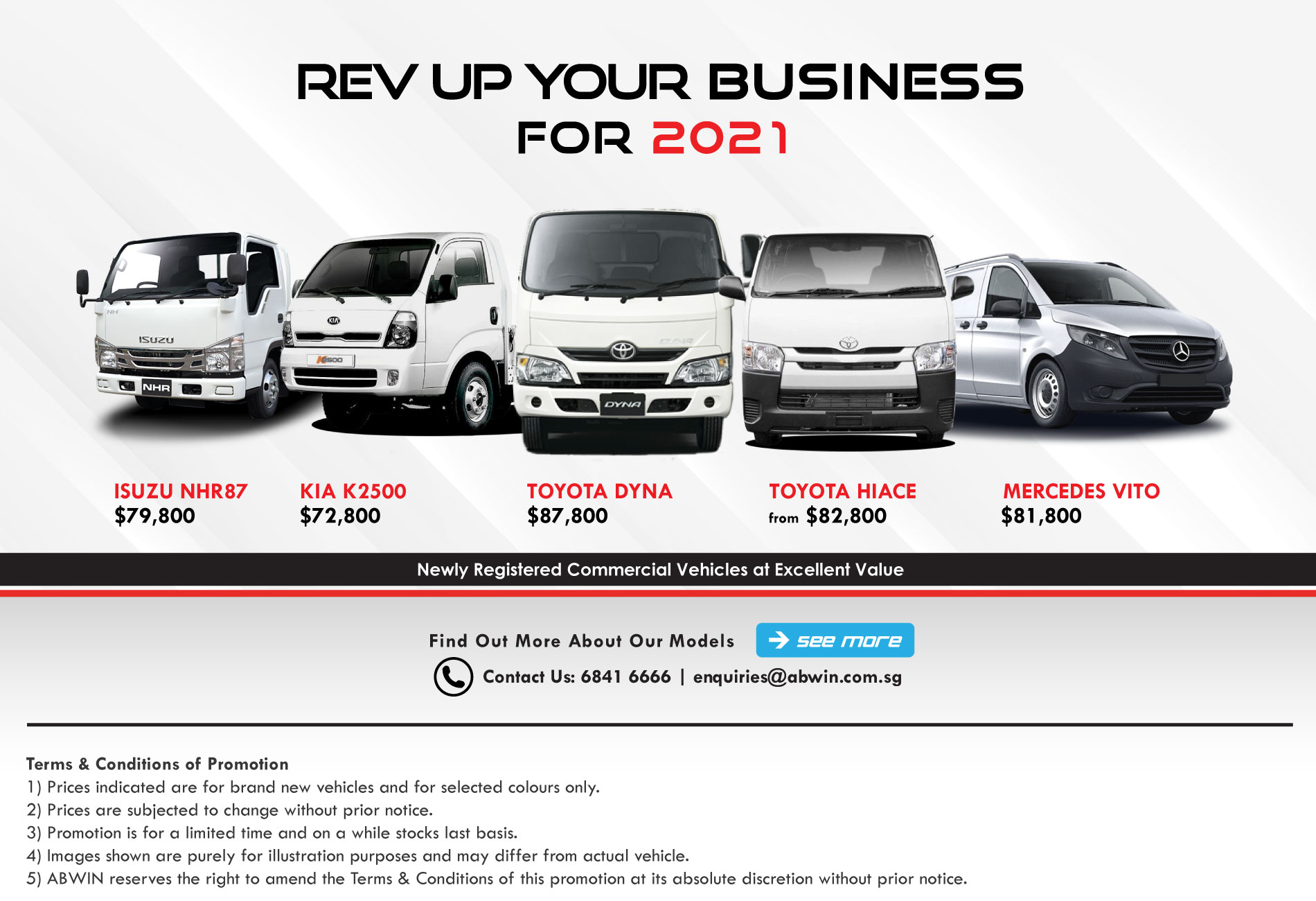 Brand new Commercial Vehicles in Singapore_April_Promotion